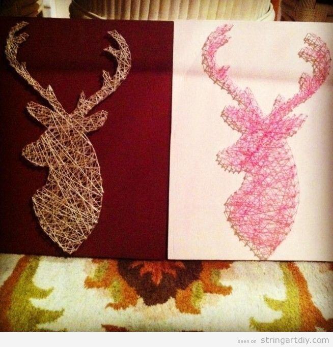 Deer String Art DIY