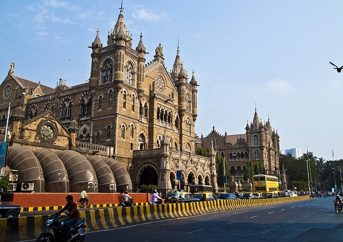 "Know India:  Chhatrapati Shivaji Terminus in Mumbai, formerly Victoria Terminus, is a UNESCO World Heritage Site and historic railway station which serves as the headquarters of the Central Railways in Mumbai, India. It took ten years to complete and was named ""Victoria Terminus"" in honor of the Queen and Empress Victoria,Now this station is known as Bombay VT."
