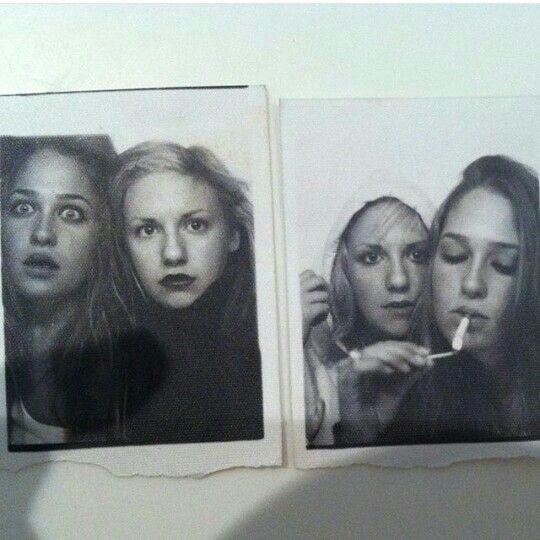 Jemima Kirke and Lena Dunham aged 18