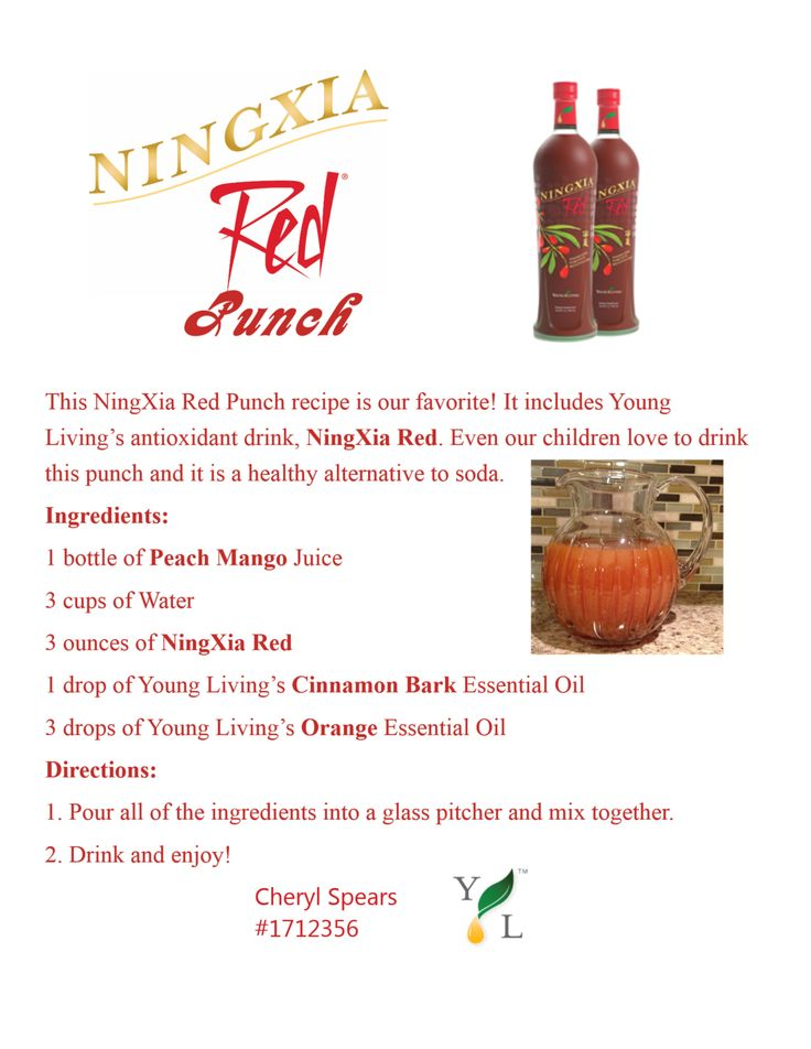 Want a great party punch with health benefits? Try this one! NingXia RedTM has helped people with such health challenges as asthma, allergies, liver problems, kidney disease, stomach illness, digestive disorders, fibromyalgia and poor eyesight. The super nutrition can help prevent degenerative diseases such as heart disease, arthritis, diabetes and cancer and promotes longevity. Want to order some NingXia Red contact me at www.theoildropper.com/debchausky Receive 24% off 1st order!