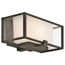 View the Kichler 42827 Modern 1 Light Up Lighting ADA Wall Sconce with Rectangular Cased Opal Glass Shades from the Isola Collection at LightingDirect.com.