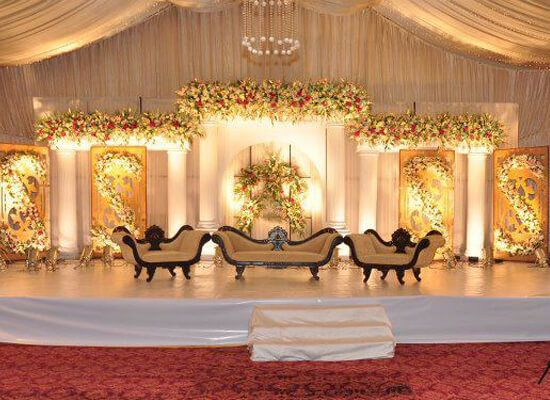 17 best ideas about pakistani wedding stage on pinterest for Asian wedding stage decoration london