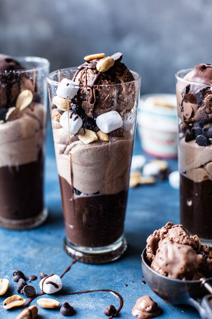 Rocky Road Pudding Parfaits - an easy homemade pudding recipe, salty almonds, sweet marshmallows & rich chocolate! What's not to love! @halfbakedharvest.com