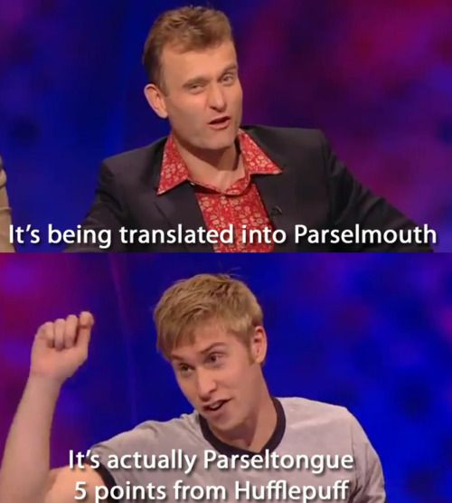 Sick 'em, Russell Howard. Sick 'em with your nerdisms and geekery!