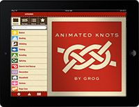 Animated knots website, sorted by type
