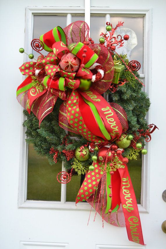 Best christmas poly deco mesh wreaths creations