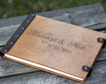 Boda libro de visitas álbum de boda libro rústica boda