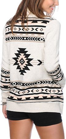 Lira Simplicity Tribal Print Cardigan at Zumiez : PDP