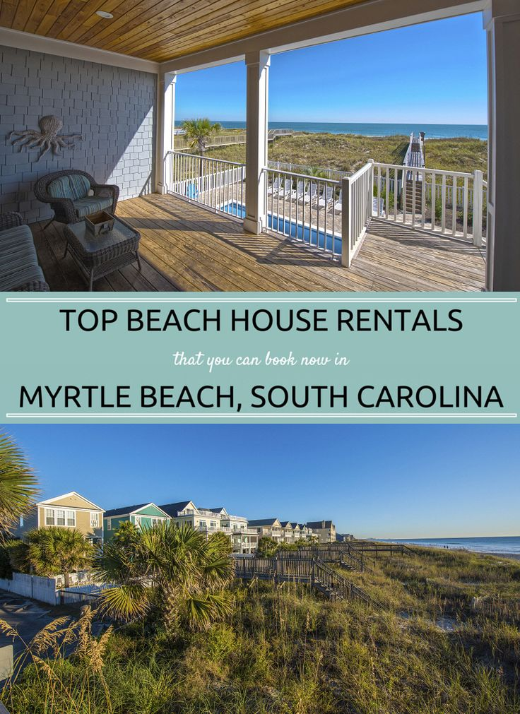 Beach House Rentals that you can book now in Myrtle Beach, South Carolina!  Plan Your Next Beach Vacation to Myrtle Beach - We have 60 Miles of Beautiful Coastline and Oceanfront Accommodations so you are sure to Book the Perfect Getaway. #BeachVacation