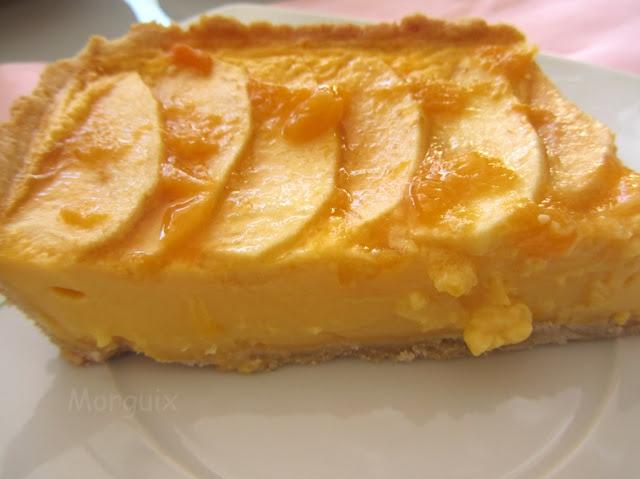 Tarta de manzana y natillas (sin azúcar)
