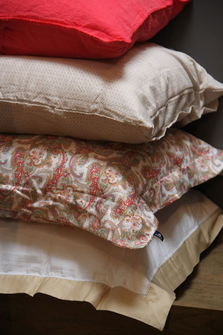 Gant Home bedding Summer Paisley, Vermont Print, New Port Frame, linnen cushion Coral red www.byHedges.nl