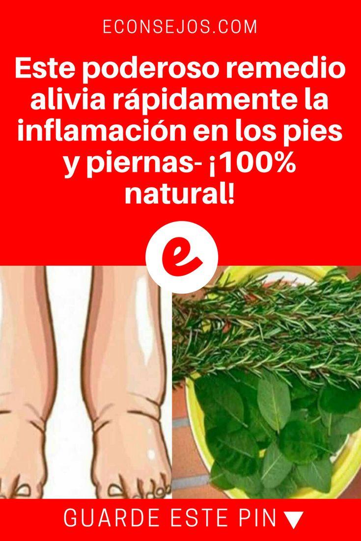 Inflamacion de pies | Este poderoso remedio alivia rápidamente la inflamación en los pies y piernas- ¡100% natural! | El alivio es realmente inmediato. Aprenda, pruebe y compruebe .