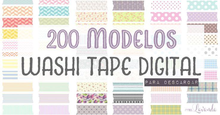 Miss Lavanda: DM + Freebies: 200 modelos de washi tape digital p...