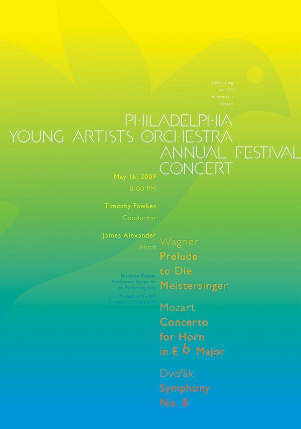 Philadelphia Young Artists Orchestra • 2009 • Dvorak: Symphony No. 8 • Paone Design Associates