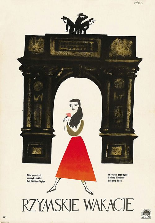 Roman Holiday | 45 Amazing Vintage Polish Posters Of Classic American Films