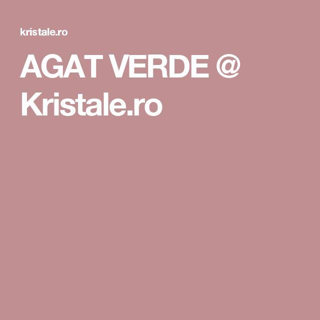 AGAT VERDE @ Kristale.ro