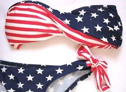'Merica: American Flags Bikinis, Little Red, Headband, Fourth Of July, The Weekend, Swimsuits, Red White Blue, 4Th Of July, Bath Suits