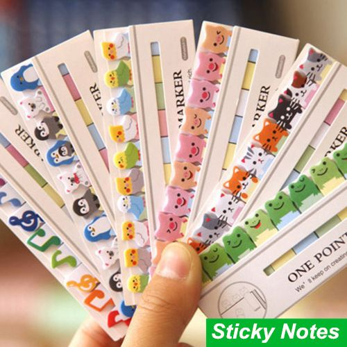 Aliexpress.com: Comprar 6 unids/lote etiqueta notas Set Animal de la historieta marcadores papel de la nota Post It notas adhesivas material escolar papelería ON026 de suministros de papel para fiestas fiable proveedores en Amy International Co.,Ltd