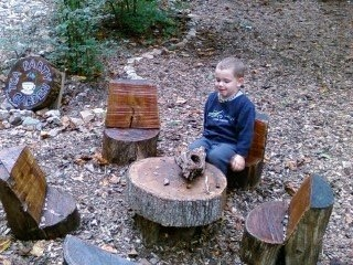 Log Seats Awesome This Is A Perfect Idea For A Kids Play