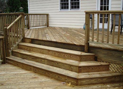 decorative deck stairs