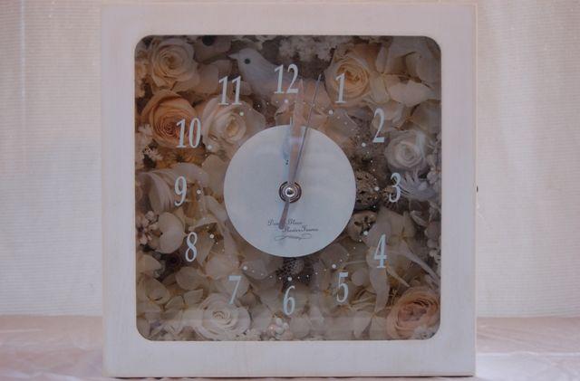プリザーブドフラワークロック・花の時計  Preserved Flower Clock