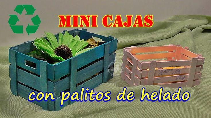 Con simples palos de helados puedes hacer una mini caja de frutas que podrás…