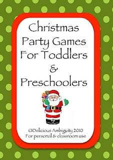 Christmas party games for toddlers and preschoolers