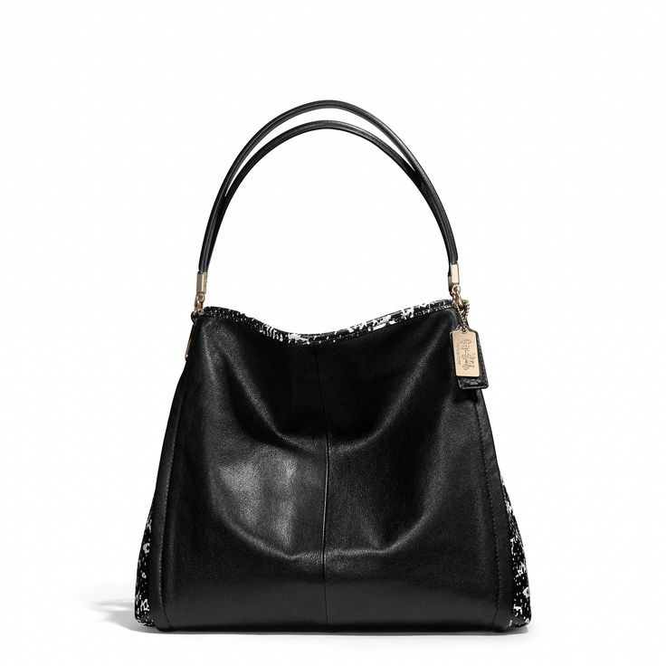 Coach Small Black Leather Shoulder Bag 120
