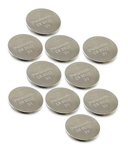 10 pcs   Panasonic Cr2032 3v Lithium Coin Cell Battery Dl2032 Ecr2032  Pack of 10  -- For more information, visit image link.