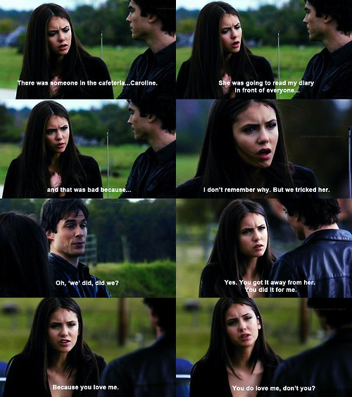 Elena & Damon   - Quotes - TVD - The Vampire Diaries i remember this in the book (my 7800th pin)