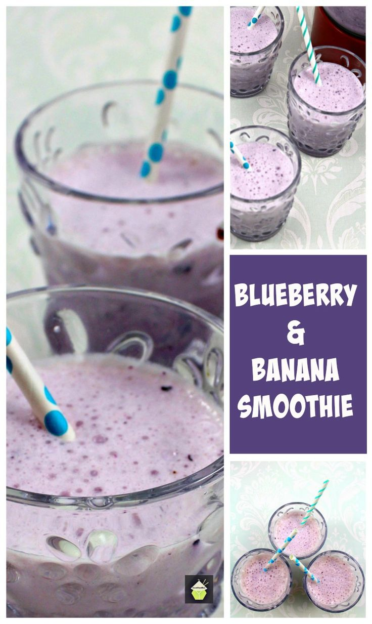Creamy Blueberry and Banana Smoothie. Super easy recipe and taste like a milkshake but without the cream or ice cream! #blueberry #smoothie #easyrecipe