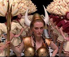 Maude Lebowski gutterballs dream scene costume viking suit
