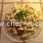 Салат оливье с макаронами