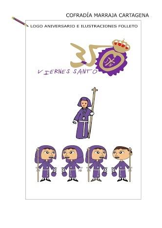 #Logo e #ilustraciones Cofradía Marraja