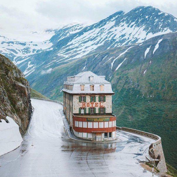 Отель в горах, Швейцарские Альпы