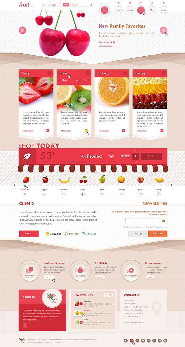 Fruit Shop (PSD) by Turgay Cakir, via Behance