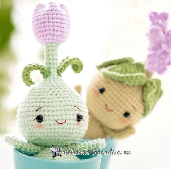 Луковичные цветы - куколки амигуруми (1)