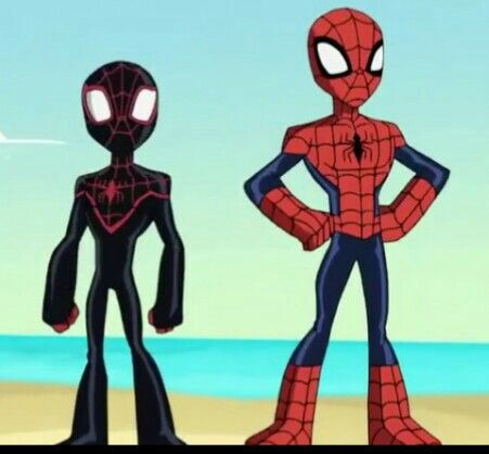 Spider-Miles and Spider-Man