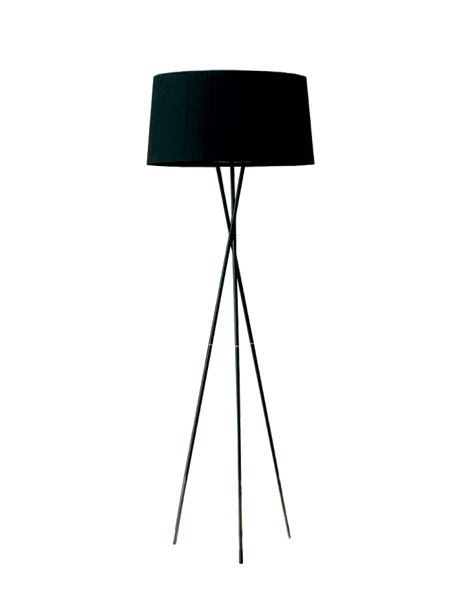 """Chopsticks-inspired Tripode G5 lamp by Santa & Cole, available in black (shown), red, and natural, 66"""" h., $1,050; ameico.com, 888-350-8765"""