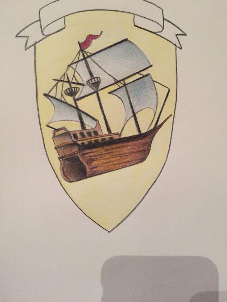 Stemma veliero per tableau del mio matrimonio...disegnato da me...