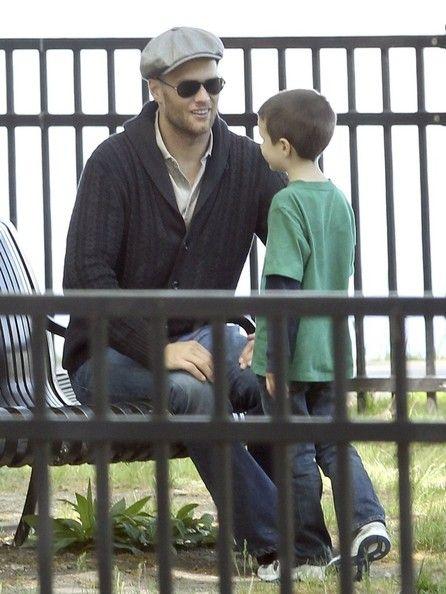 Tom Brady and John Edward Thomas Moynahan - Tom Brady Spends the Day with His Boys