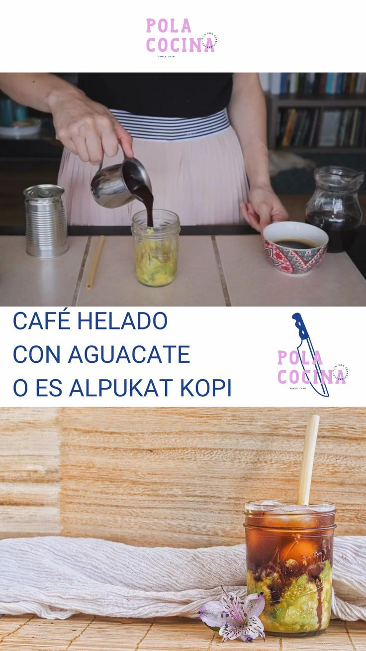 Receta de es alpukat kopi: café helado con aguacate de Indonesia Alcohol, Soap, Bottle, Home, Popsicle Recipes, Deserts, Iced Coffee, Beautiful Hairstyles, Avocado