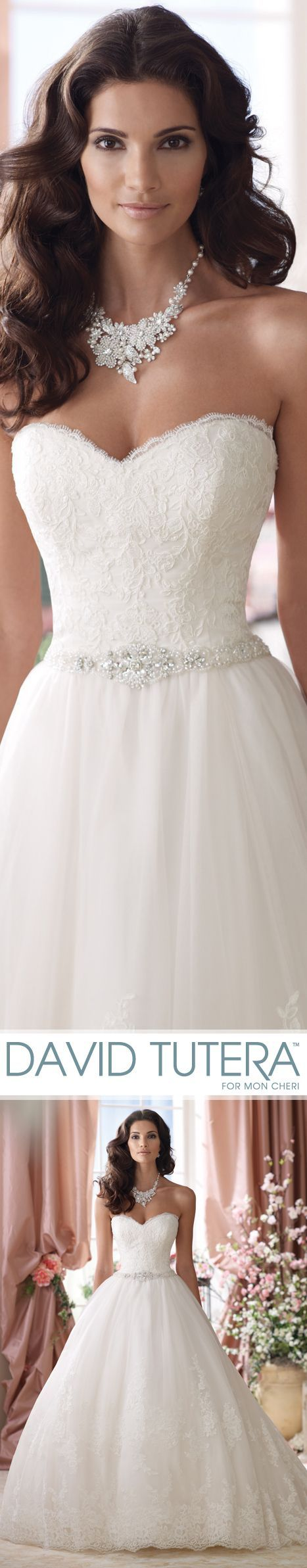 Vera Wedding Dresses 2014 Collection – Strapless embroidered lace and tulle ball gown wedding dress