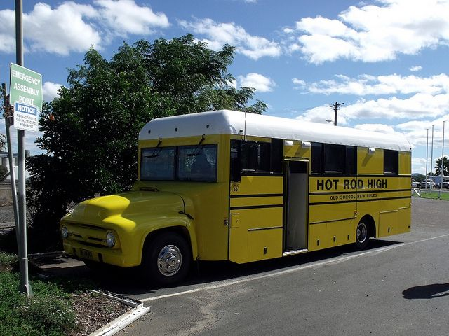 school bus camper | Faux American School Bus Camper [2] | Flickr - Photo Sharing!