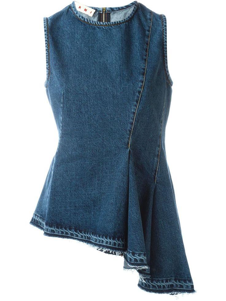 Marni джинсовый топ