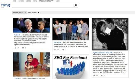 Search Facebook Friends' Photos On Bing