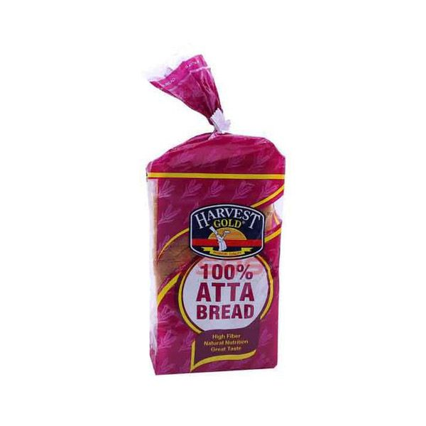 #HARVEST #GOLD #ATTA #BREAD Grab the best Harvest Gold Atta Bread with crisp crust. Nutrition Facts : One slice provides 8.72% of protein, 132 mg of sodium, 12 g of carbohydrates, 2 g of sugars, 4.43% g of fiber and 1 g of fat. It is also a good source of magnesium and selenium, providing 23 g and 11 g, respectively