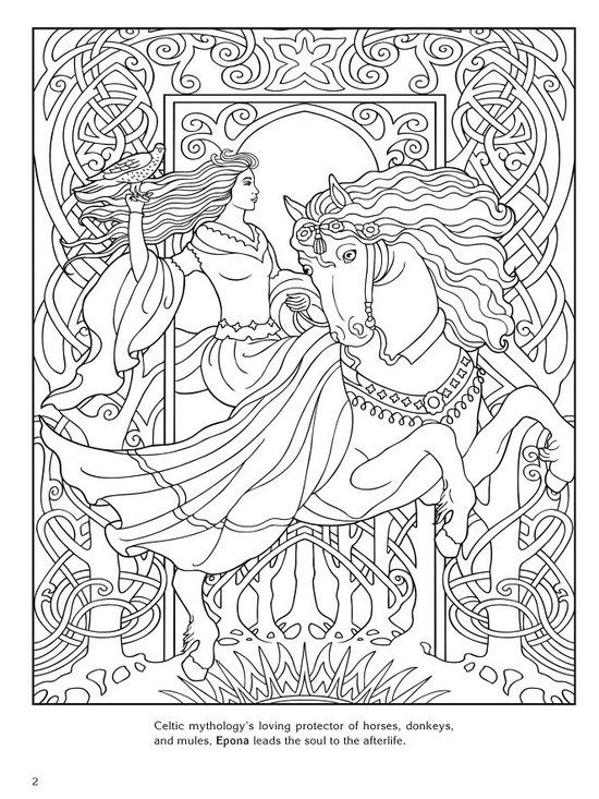 Kleurplaten Dieren Paarden Bol Com Goddesses Marty Noble Amp Coloring Books