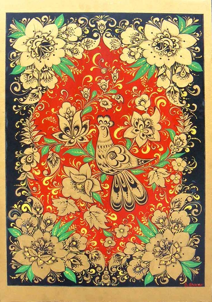 Russian antique fabric
