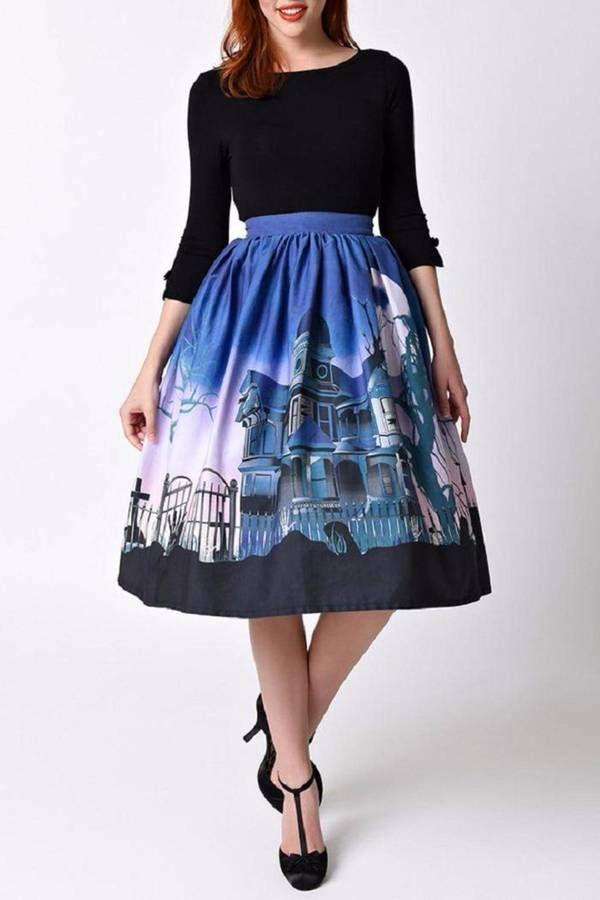 Cupro Skirt - Carnation B&W Skirt by VIDA VIDA Websites Online Buy Cheap Newest oZN8bk